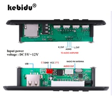 Kebidu بلوتوث 5.0 مشغل MP3 فك مجلس FM راديو TF USB 3.5 مللي متر AUX وحدة بلوتوث استقبال سيارة عدة مضخم الصوت مجلس