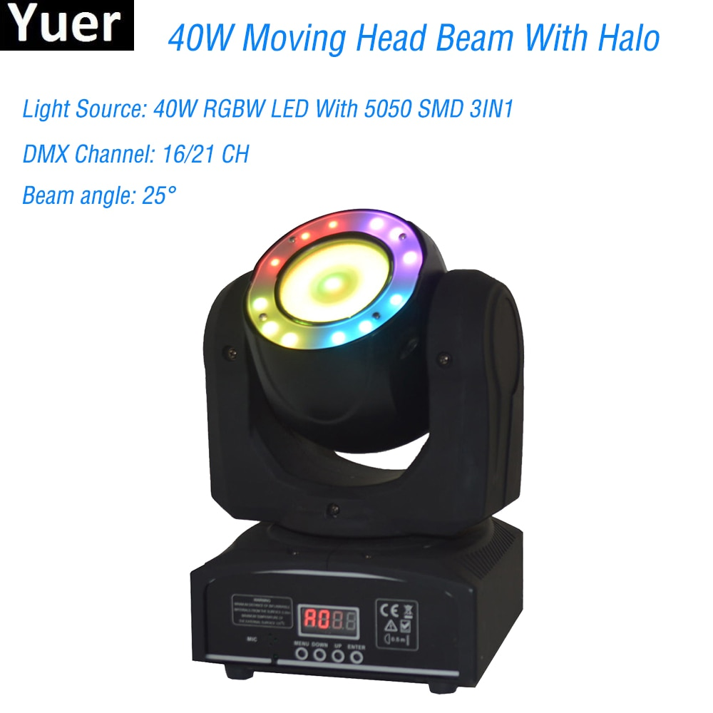 new 19 15w four in one led focus bee eye moving head light dmx512 wedding bar show ktv stage lighting ac100v 240v 50 60hz 450w Mini LED 40W Moving Head Spot Beam Stage Lamps Effect Lighting RGBW with LED Ring DMX512 For Stage Light KTV DJ Disco Bar RGB