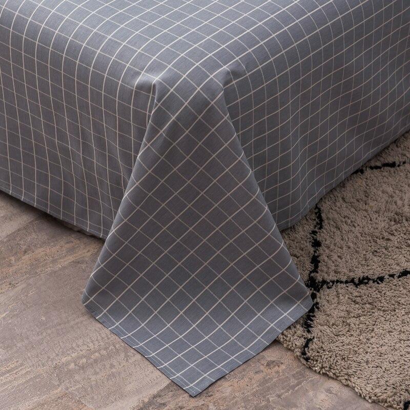Textiles para el hogar, Sábana de tela escocesa moderna, Impresión de algodón, Sábana plana, línea de cama doble, tamaño queen king, envío gratis #/L