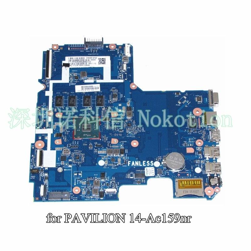 Nokotion 814050-001 para hp pavilion 14 14-ac159nr computador portátil placa-mãe sr29h n3050 cpu 2gb memória SKITTL10-6050A2730201-MB-A01