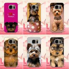 Oedmeb coque téléphone pour Galaxy A3 A5 A7 J1 J3 J5 J7 2016 2017 S5 S6 S7 S8 S9 edge Plus jaime mes chiots chien Yorkie