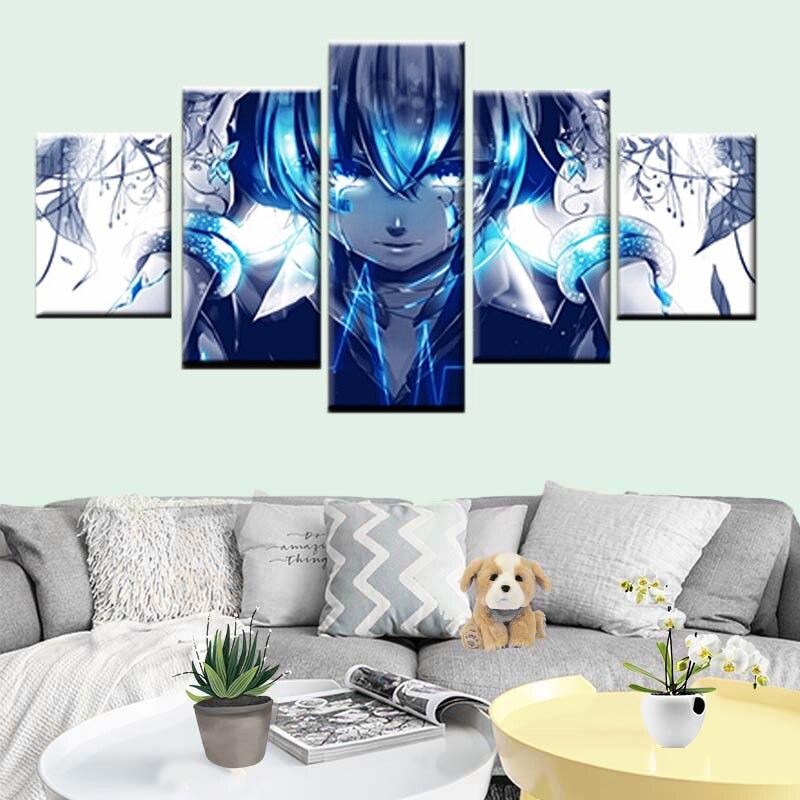 Nordic modern poster pintura cópia da lona anime hatsune futuros lágrimas femininas 5 arte da parede do painel de decoração para casa sala de estar
