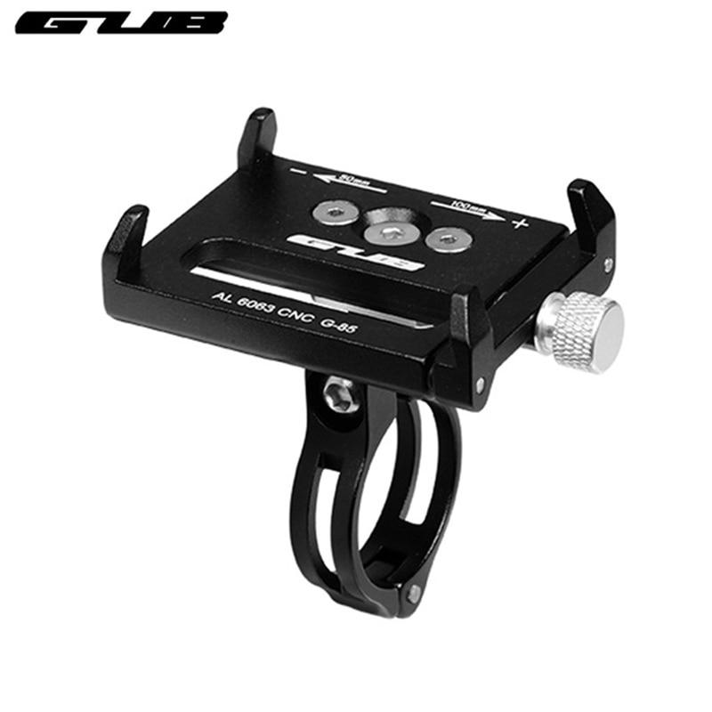 """GUB G-81G-85 Metall Anti Rutsche Fahrrad Handy Halter Motorrad Lenker Stem Clip Ständer Passend für 3.5 """" - 7.5"""" Smartphones"""