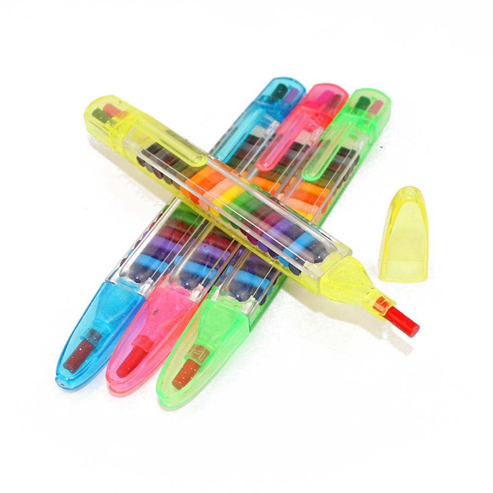 1 шт., 20 видов цветов, масляная паста, детская ручка для граффити, художественный подарок, блестящие Обучающие Детские игрушки для рисования, восковый карандаш, для детей, забавные и творческие