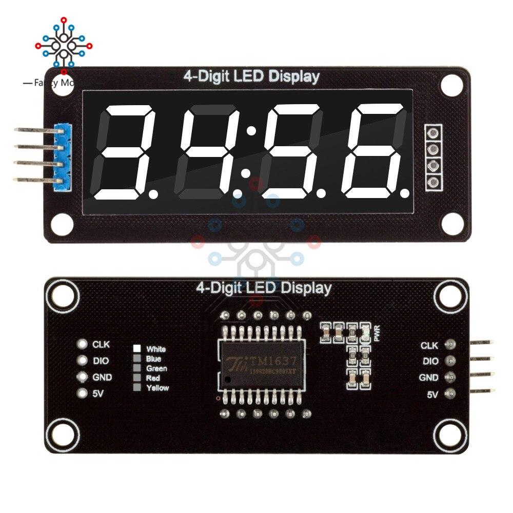 Tubo de visualización Digital LED 0,56 de 4 dígitos TM1637 Módulo de doble punto de 7 segmentos decimales Pantalla de 0,56 pulgadas para Arduino 5 colores