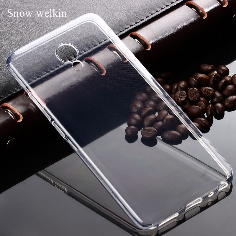 Snow Welkin Transparent Clear Silicone Soft Ultra Thin TPU Phone Back Cover Case For Meizu M5 Note /