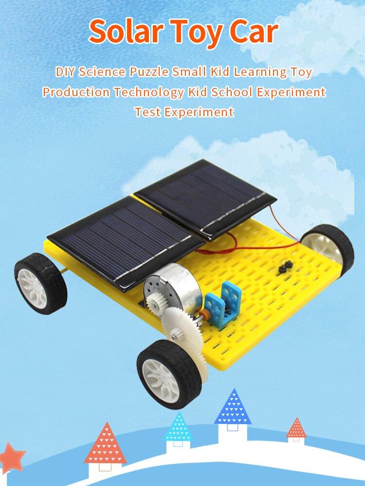 DIY Robot doble energía Solar Mini DIY coche ensamblar Kit 4WD juguetes clásicos niños educativos ciencia Gadget creativo regalo