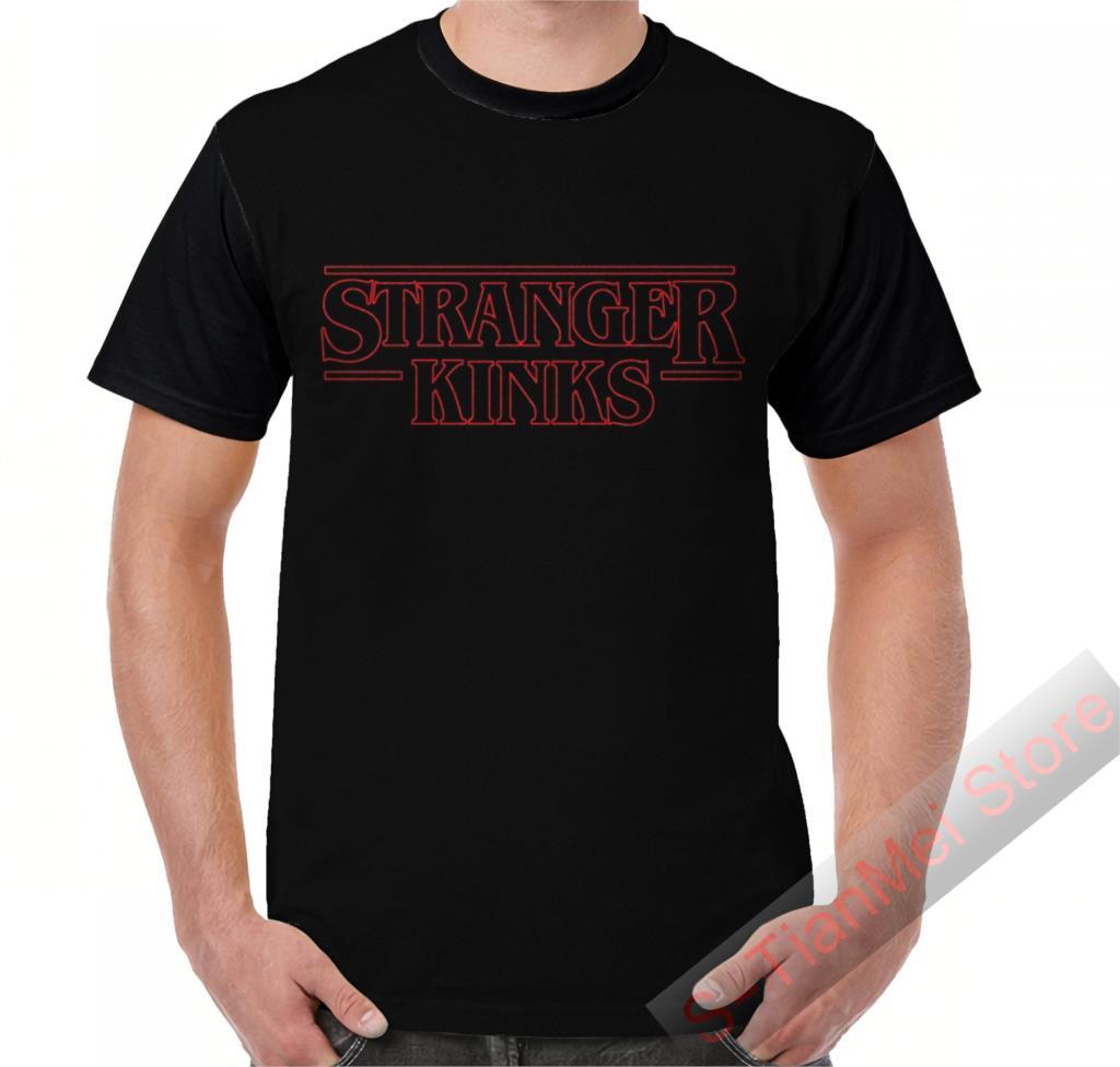 Summer Graphic t shirt men tops tees Stranger Kinks printed women funny T-Shirt Short Sleeve Casual tshirts