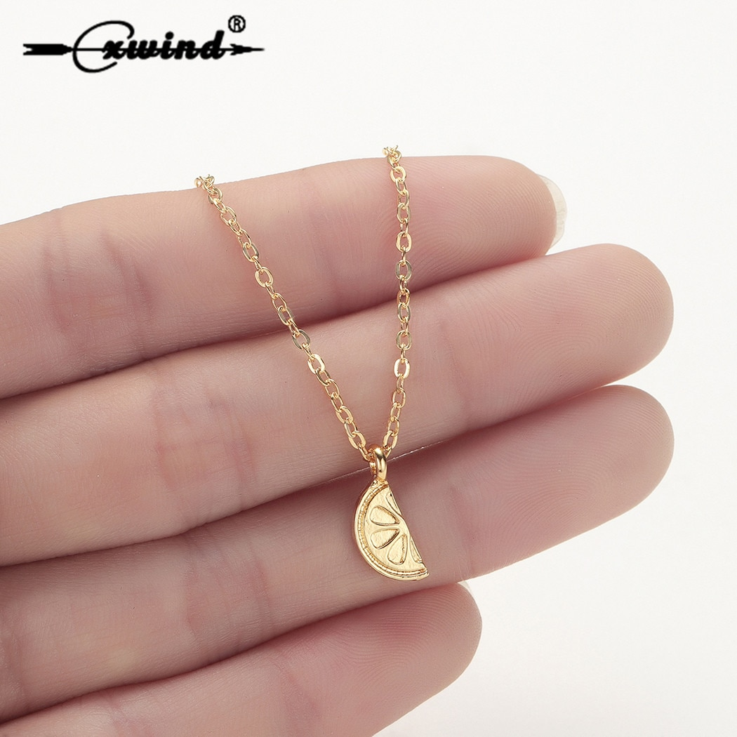 Cxwind Fahion collar de limón para mujer chica encanto fruta diseño collar lindo enlace cadena accesorios de joyería Bisutería