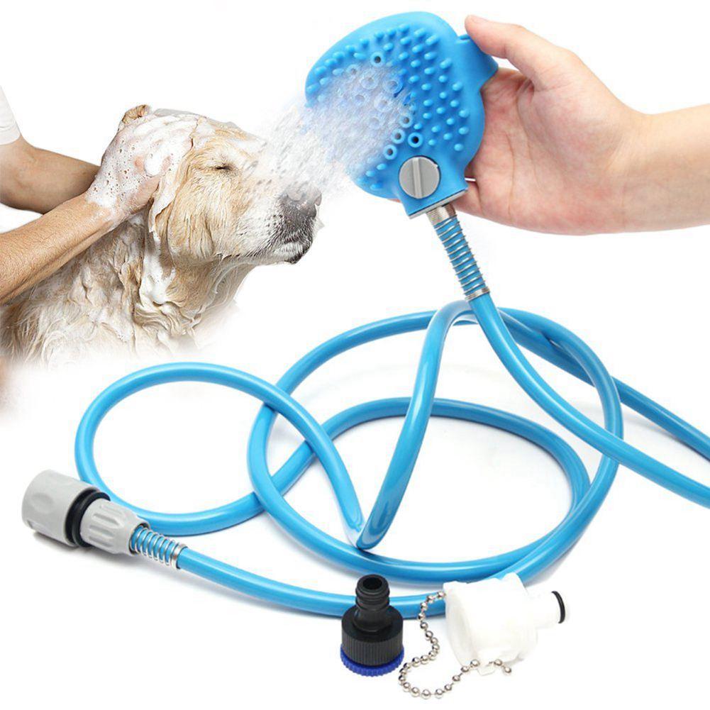 Hot Pet Bathing Tool Comfortable Massager Shower Tool Cleaning Washing Bath Sprayers Palm-Sized Dog Scrubber Sprayer Hand Mass