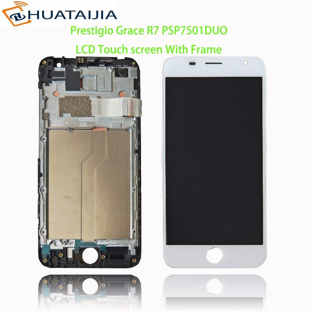 Pantalla LCD de 5,0 pulgadas + pantalla táctil para Prestigio Grace R7 PSP7501DUO psp 7501 duo pas7501 panel digitalizador lente montaje de cristal