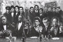 N2477 Gangster Collage Mafia Tv Movie Wall Aufkleber Seide Stoff Poster Art Indoor Decor Helle