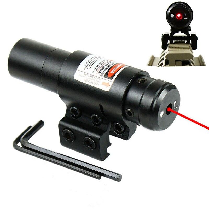Красный лазерный прицел с креплением на рельсы 20 мм/11 мм, охотничий лазерный прицел, охотничий прицел, тактические оптические инструменты QZ0130