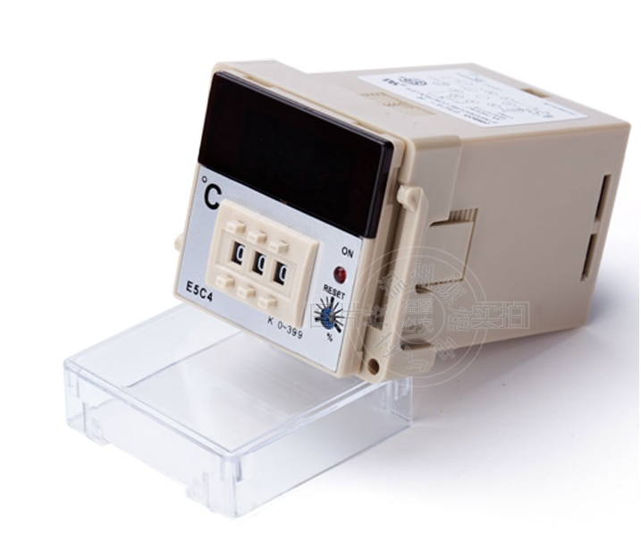 FreeShipping E5C4 0 Digital PID Controlador de Temperatura AC 220 v Faixa de Temperatura-399 Graus com base Forno ajustar
