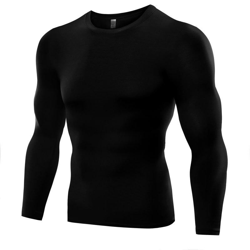 Sport Top Men New Shirt Long Sleeve Quick Dry Men's Running T-shirts Gym Clothing Fitness Top Mens Soccer Jersey Hot