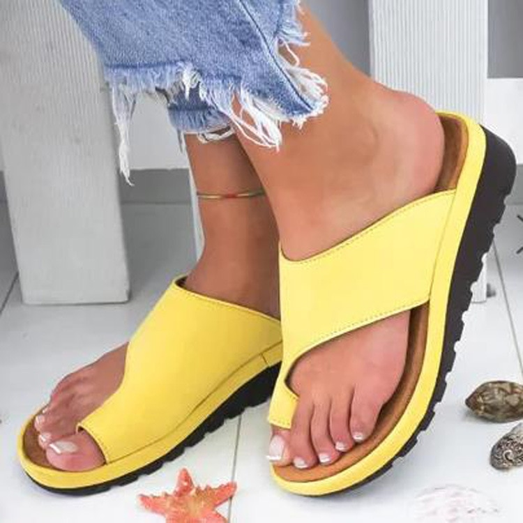 2019 Women Summer Breathable Leisure Slippers Thick Sole Heels Beach Sandals Women's Outdoor Non-slip Flip Flops Walking Shoes