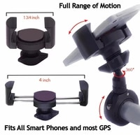 free shipping universal 1 25 1 14 motorcycle bicycle handlebar phone mount 360 cell phone holder gps holder