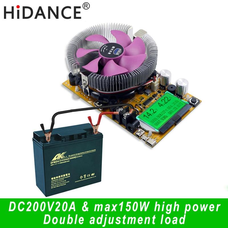 Цифровой тестер емкости аккумулятора 150 Вт вольтметр регулируемый постоянный ток электронное зарядное устройство usb измеритель емкости