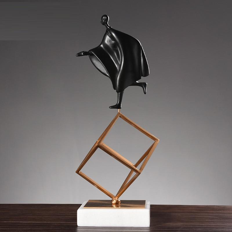 Muebles escandinavos escultura modelo gimnasia deportes postura figuritas Decoración Para sala de estar mármol Metal artesanías R783
