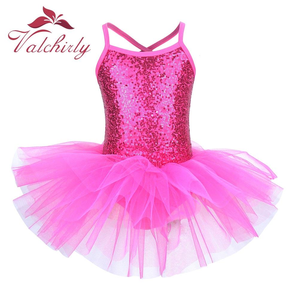 Ballerina Fairy Prom Party Costume Kids Sequined Flower Dress Girls Dance wear Gymnastic Ballet Leot