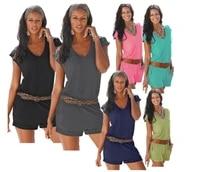 2021 women summer v neck sleeveless casual siamese fashion casual beach romper cloth