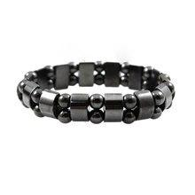 Black Stone Magnetic Health Care Therapy Slimming Bracelet Weight Loss Black Stone Bracelets Bangle for Men Women