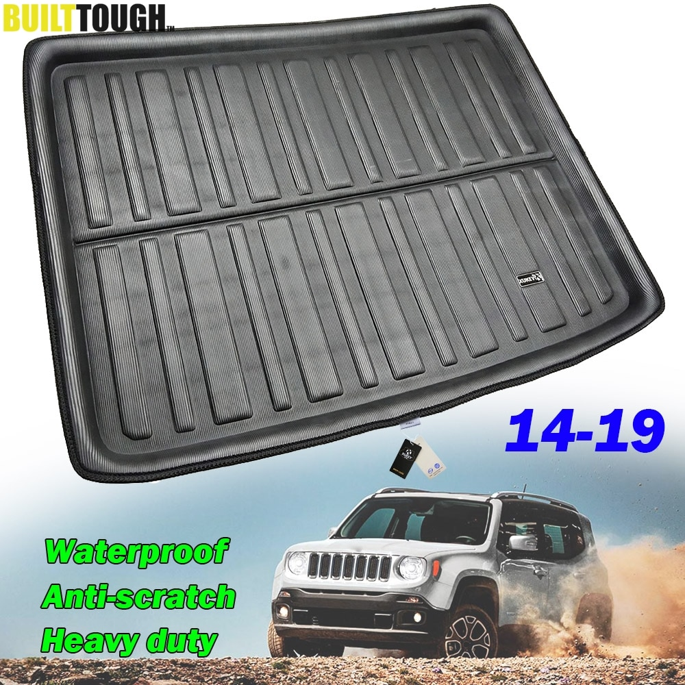 Para Jeep Renegade BU a medida 2014 2015 2016 2017 2018 2019 maletero trasero forro maletero tapete equipaje bandeja suelo alfombra Protector