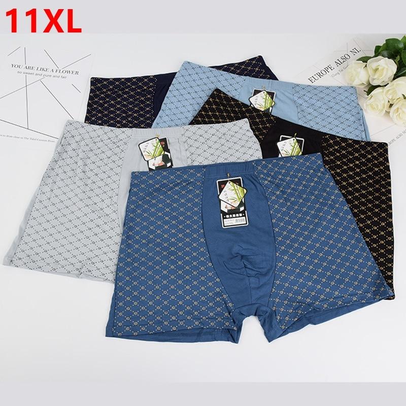 5 unids/lote Extra grande de talla grande aumento de pantalones de gran tamaño para hombres ropa interior para niños talla grande 11XL 9XL cuatro esquina boxer