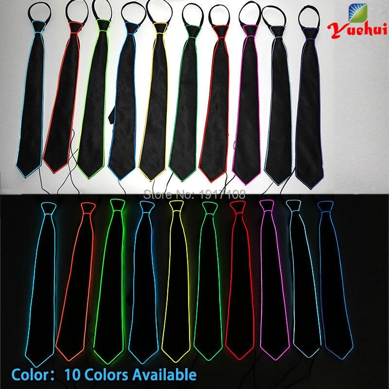 Moda 10 colores luminosos fiesta decorativo intermitente LED cuello corbata EL alambre para Club nocturno, baile, DJ, decoración de la boda
