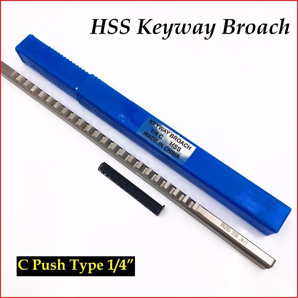 1/4 C Push-Type Keyway Broach дюйм Размер HSS Broach резак для резки CNC станок новый