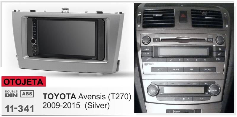 Navirider Android 8,1 reproductor multimedia estéreo de coche con marco grabador de cinta + radio serie compatible con TOYOTA avensis T270 2009-2015 plata