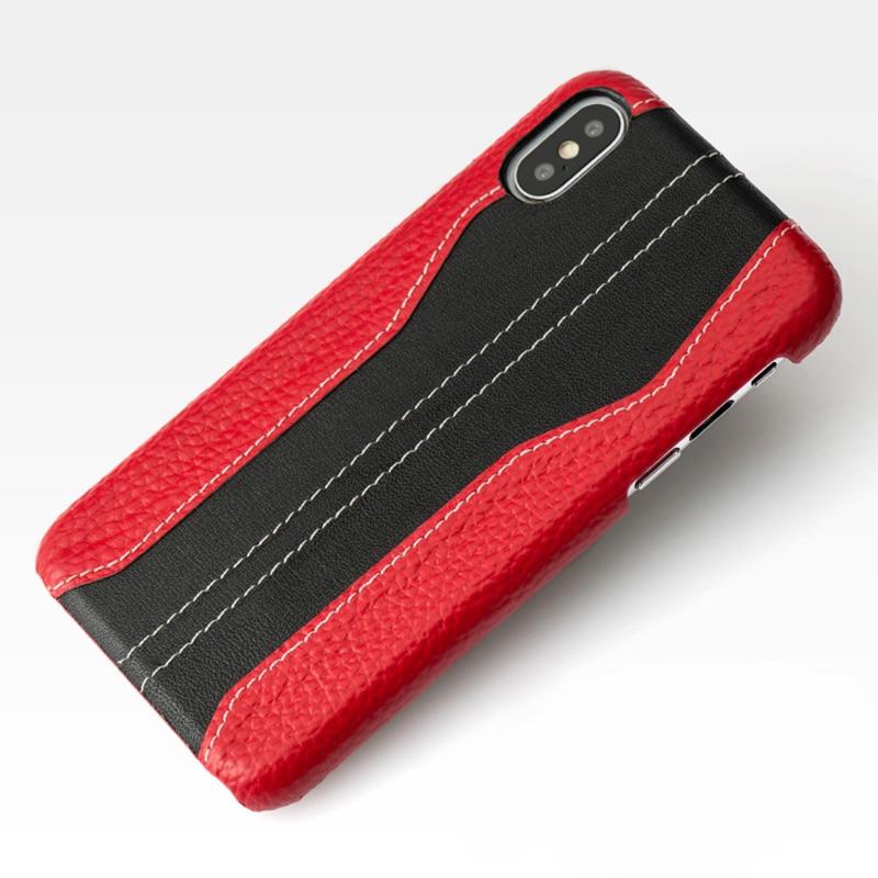 Phone Case For Xiaomi Pocophone F1 Mi 8 A1 A2 Lite Mix 2s Max 3 Litchi Texture Stitching Cowhide For Redmi Note 5 Plus 5A 4X
