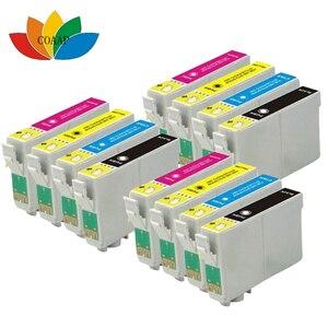12 Ink Cartridge compatible T128 T1285 XL For Stylus SX235W SX230 SX425W  Printer