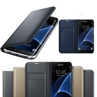 Чехол-бумажник для Samsung Galaxy A7 A6 A8 A9 2018 A3 A5 J3 J5 J7 2017 S9 S8 Plus S7 Edge, кожаный, оригинал