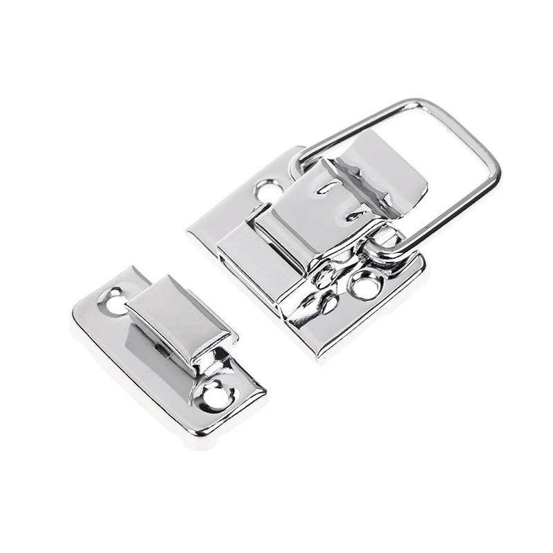 1 o 5 uds. Pestillo cromado de acero inoxidable para caja de pecho cierre simplemente levante el brazo para abrir la maleta herramienta