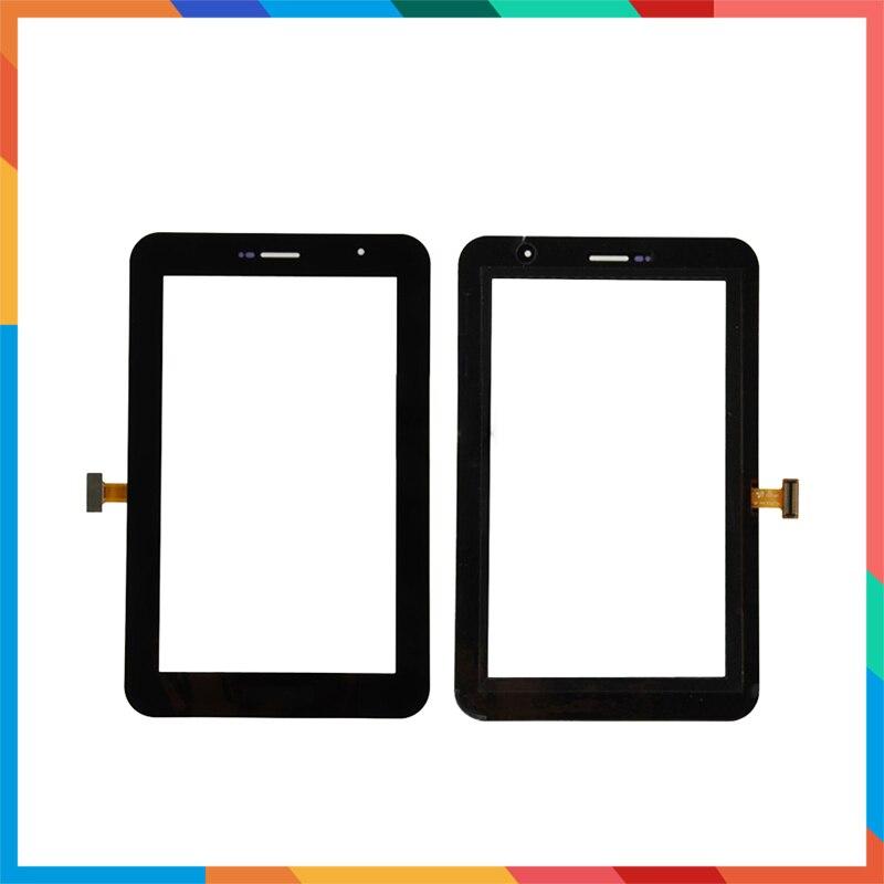 "10 unids/lote 7,0 ""para Samsung Galaxy Tab 7,0 Plus P6200 y P6210 Tablet Touch pantalla digitalizador Sensor frontal exterior cristal lente Panel"