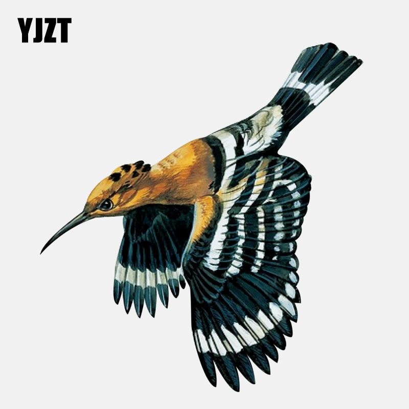 YJZT 13.6CM*14.7CM  Personalized Flying Hoopoe Bird PVC High Quality Car Sticker 11-01500