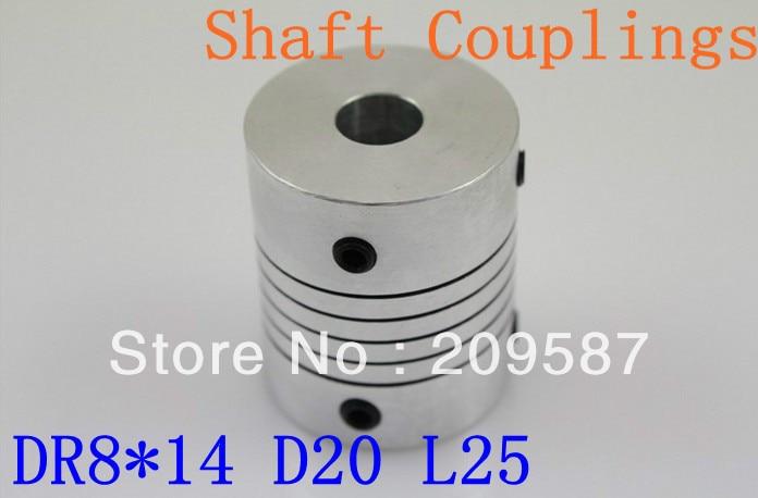 DR 8mm x 14mm CNC Flexible Coupling Shaft Coupler Encode Connector OD25 L30