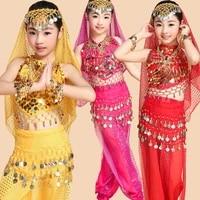 4pcsset girls ballet dress for girls kids ballet costume children performance egypt dance sets girl indian dancing bellydance