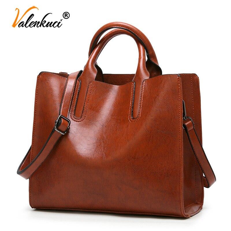 Valenkuci, Bolsos de cuero, bolso grande para mujer, Bolsos casuales de alta calidad para mujer, bolso de mano para maletero, bolso de marca famosa, Bolsos para mujer