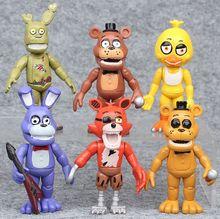 6 pcs/lot FNAF 10cm En Stock Five Nights At Freddys 4 FNAF Foxy Chica Bonnie Freddy Figurines Jouet Denfant De Noël Cadeaux