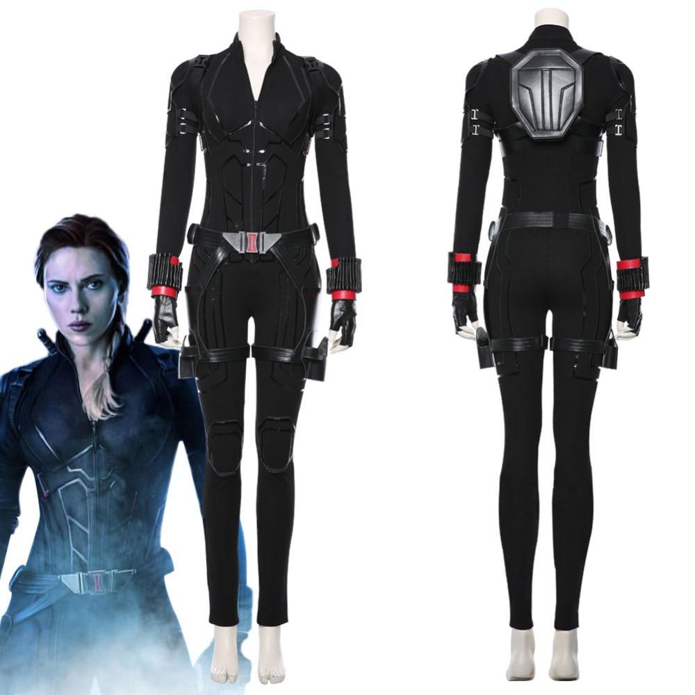 بدلة التأثيري الارملة السوداء أزياء النساء للهالوين بدلة أزياء ناتاشا رومانوف