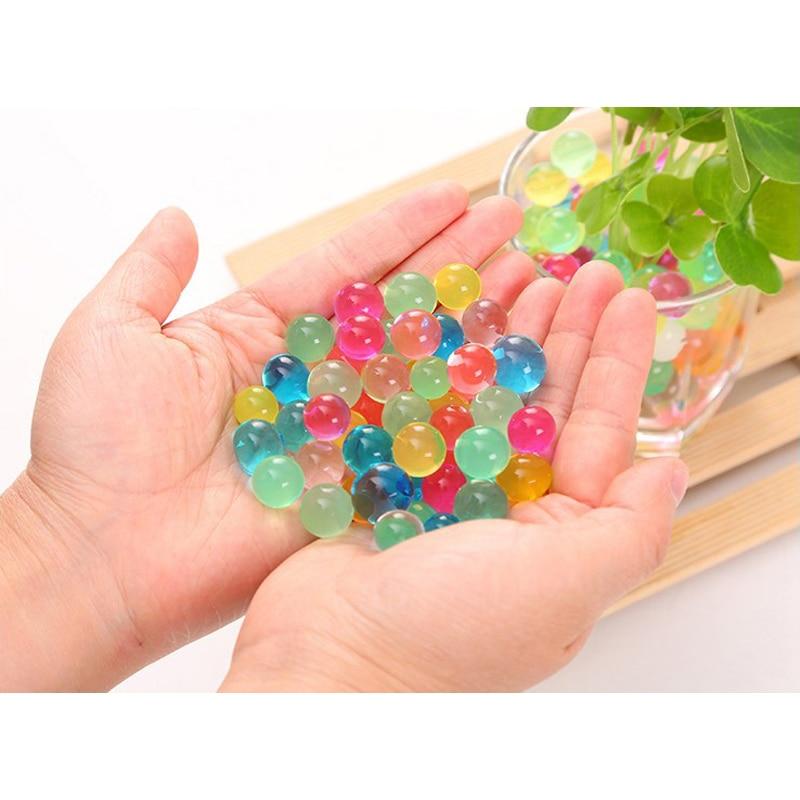 4800 יחחבילה 12 צבעי אדמת פרל בצורת הידרוג ל ג ל פולימר מים חרוזים בוץ לגדול קסם ג לי כדורי בית תפאורה