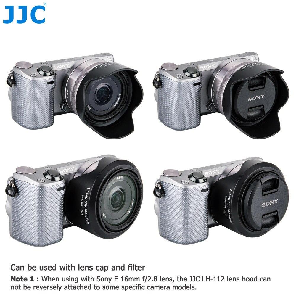 JJC Bayonet Lens Hood 49mm for Sony E 18-55mm f/3.5-5.6 OSS/E 16mm f/2.8 / E 35mm f/1.8 OSS /FE 28mm f/2 replaces ALC-SH112