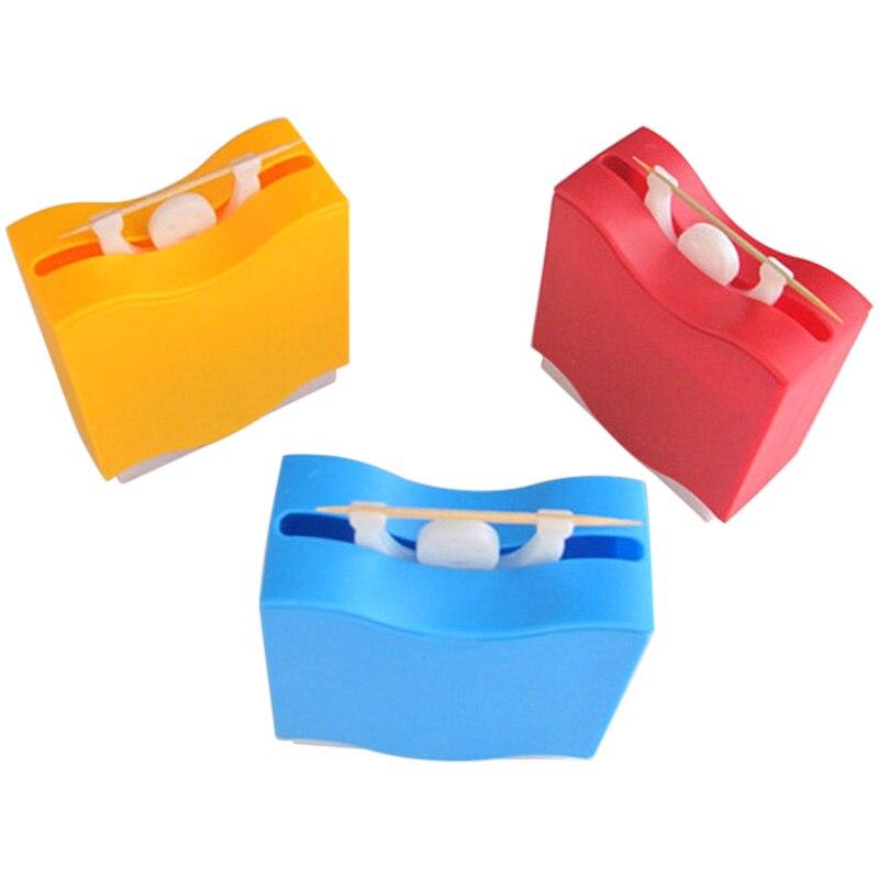 Dispensador de mondadientes automático de tipo hombre de elevación 1 Uds. Caja de palillos de dientes suministros para el hogar caja de almacenamiento 7,7x3,5x8,7 cm TB venta