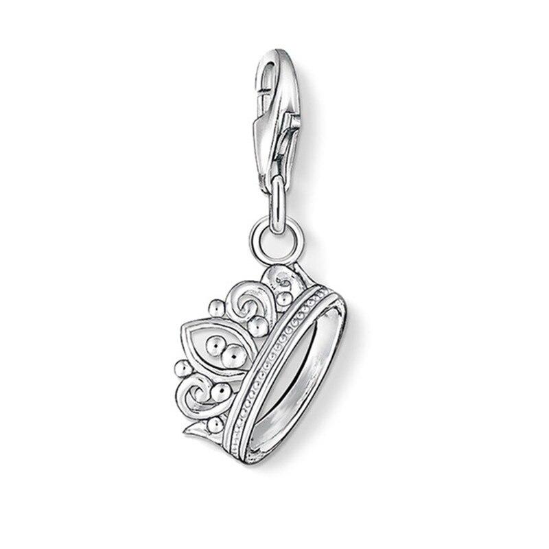 Muffiy Brand Cubic Zircon Crown Charm for Bracelet Romantic Glam Queen Women Jewelry Trendy Wanita Cantik Bijoux Gaya Perhiasan