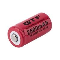 gtf 3 7v 2500mah 16340 battery li ion rechargeable battery for flashlight rechargeable battery portable led powerbank cr123a