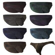 8 Stks/partij Sexy Homo Ondergoed Mannen Slips Shorts Homme Shining U Bolle Zakje Slipje Mannelijke Onderbroek Cuecas Calzoncillos Slips