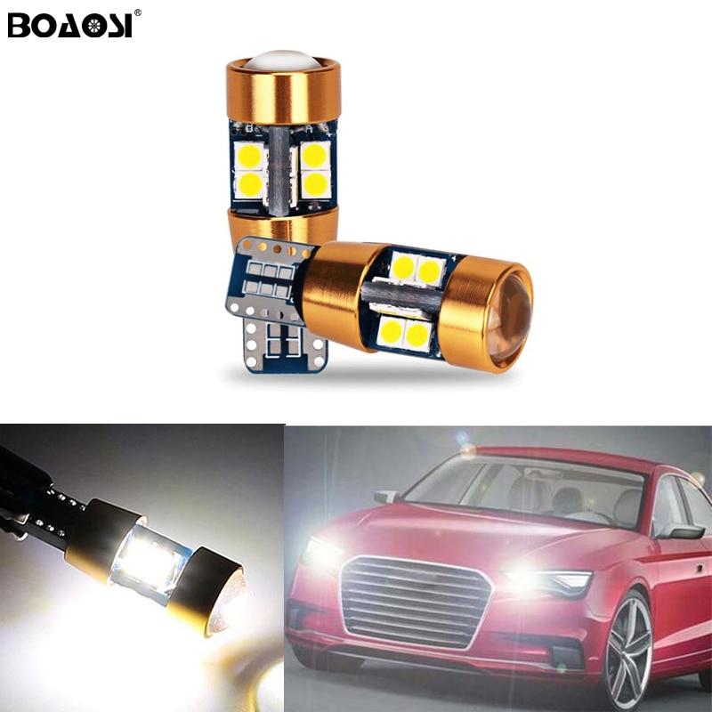 2X T10 W5W 3030smd LED Lumière de Dégagement avec Lentille De Projecteur pour AUDI A2 A3 8L 8P A4 B5 B6 A6 4B 4F A8 D2 TT C5 C6