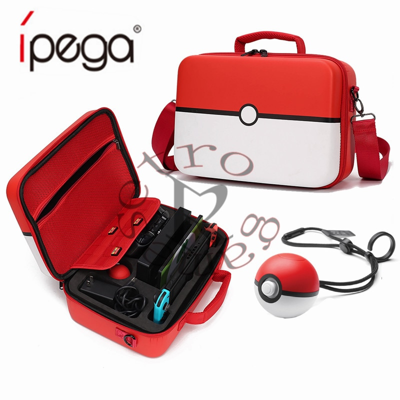 2019 Pokeball Nintend Switch Case accesorios Pokemons Nintendoswitch almacenamiento bolsa grande Nintendos juegos de moda Poke Ball Bags nuevo